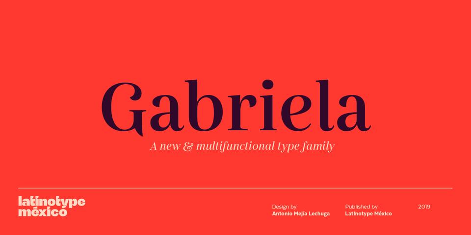Gabriela font page