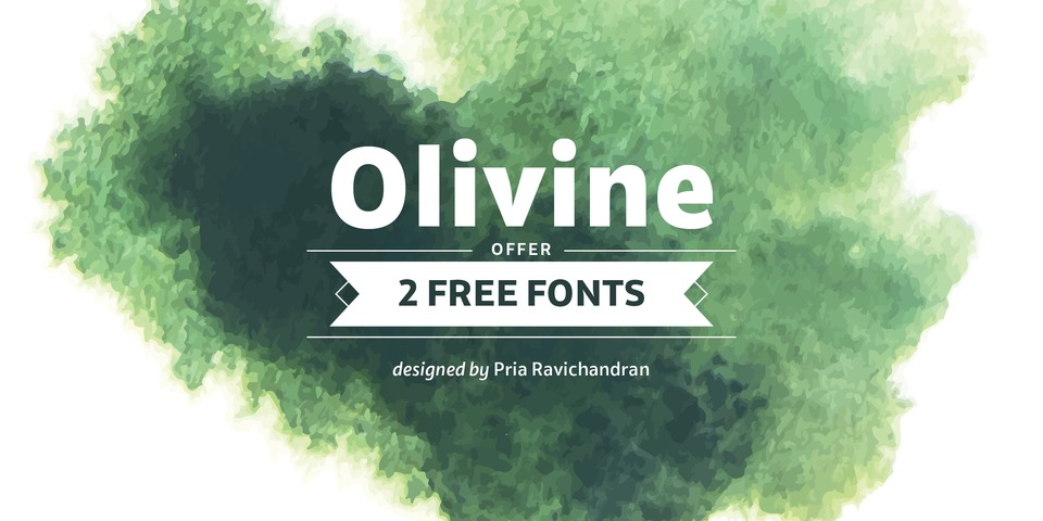 Olivine font page
