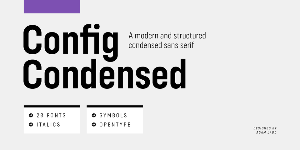 Config Condensed font page
