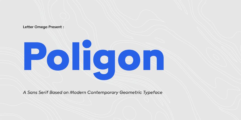 Poligon font page
