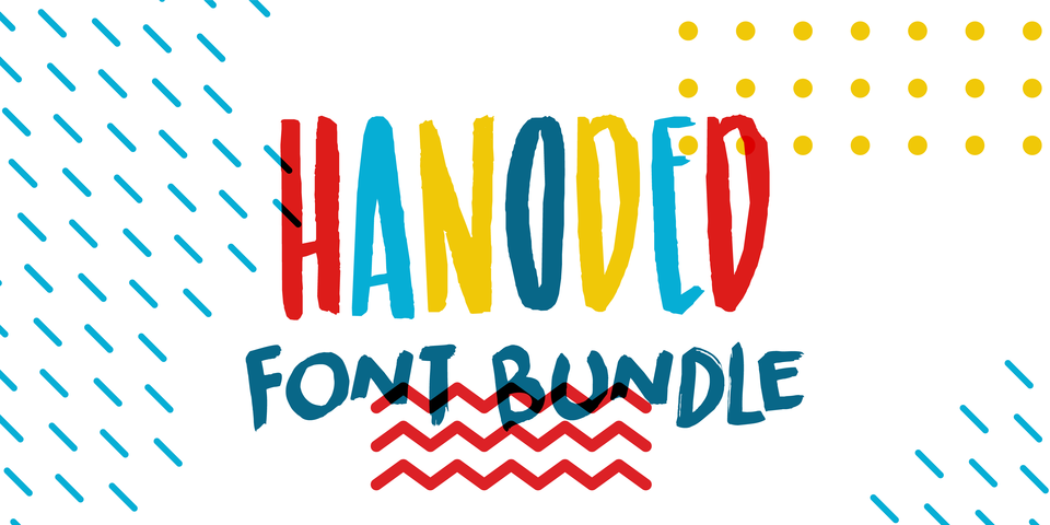 Hanoded's Handmade Fonts Bundle by Hanoded