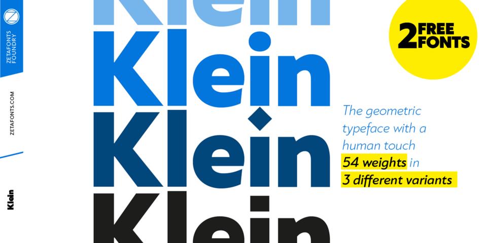 Klein font page