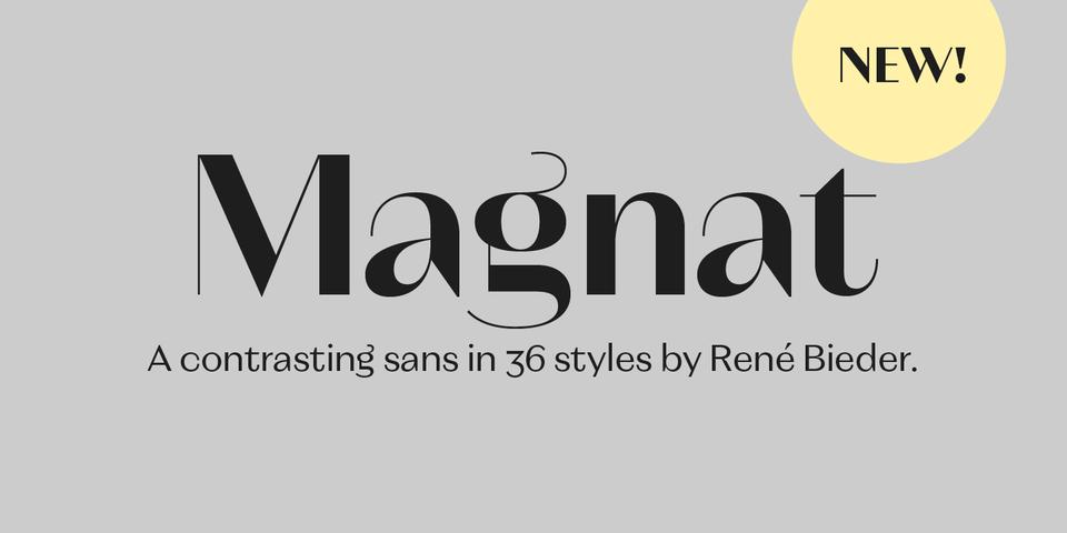 Magnat font page