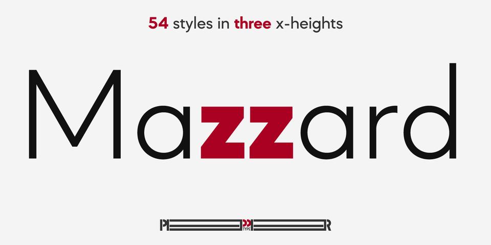 Mazzard font page