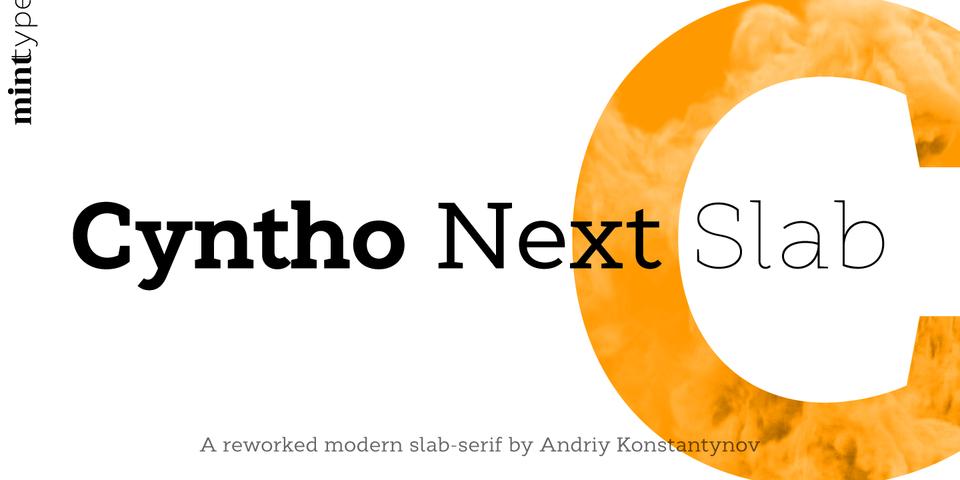Cyntho Next Slab font page