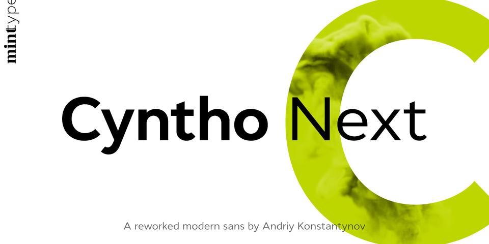 Cyntho Next font page