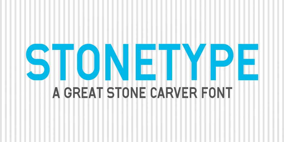 Stonetype font page