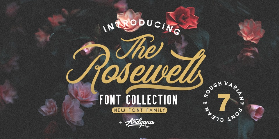 Rosewell Font Collection font page