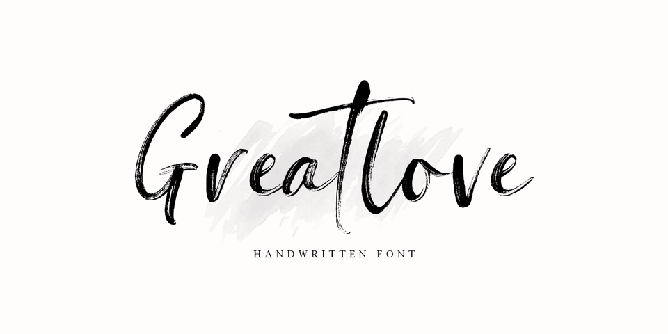 Greatlove font page