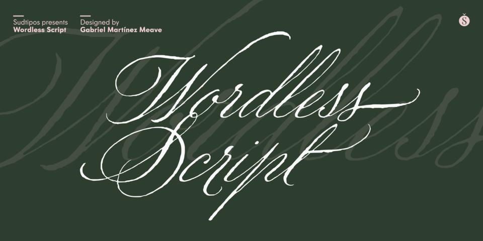 Wordless Script font page