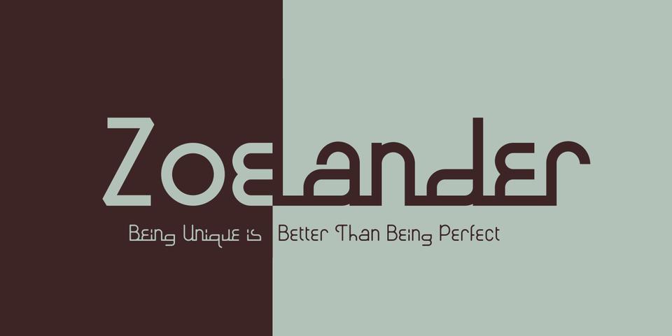 Zoelander font page