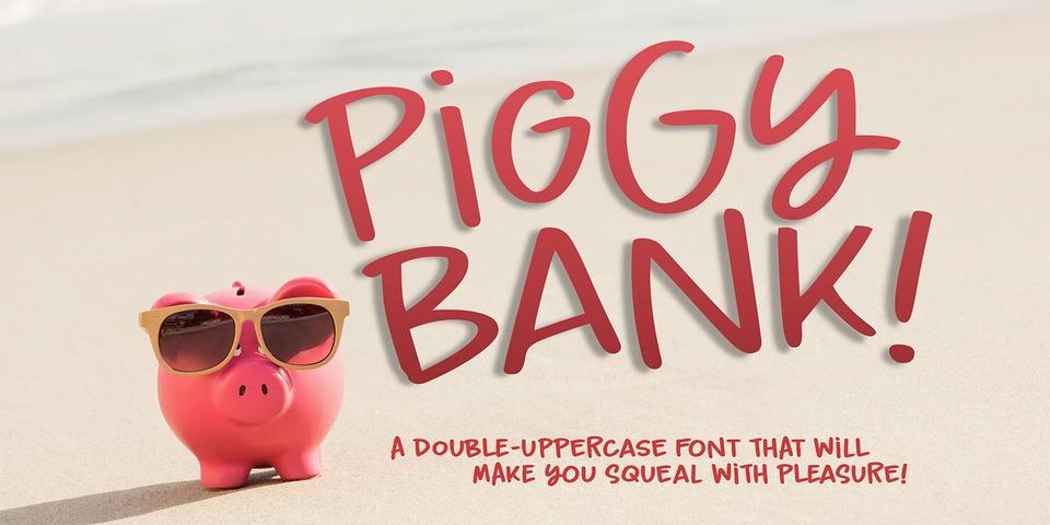 Piggy Bank font page