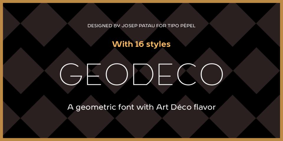 Geo Deco font page