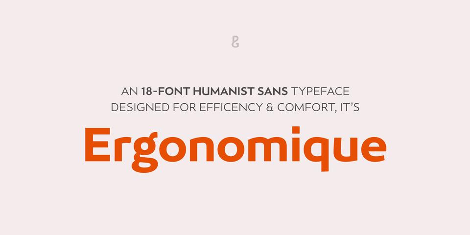 Ergonomique font page