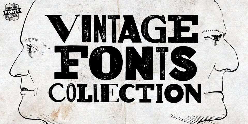 Vintage Fonts Collection font page