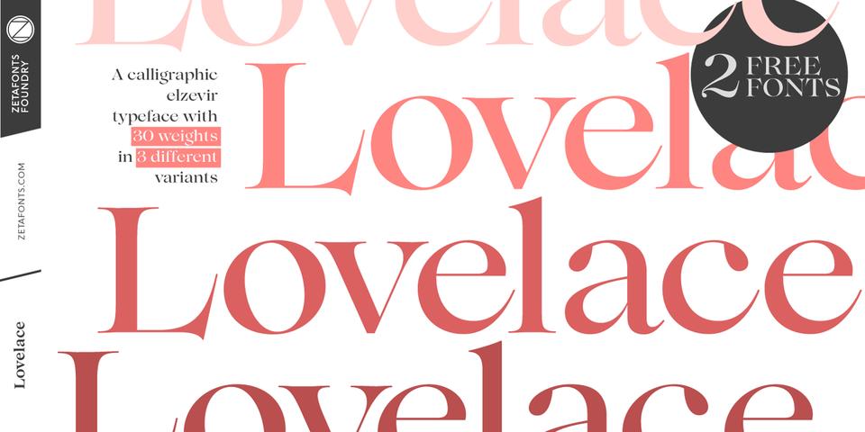 Lovelace font page