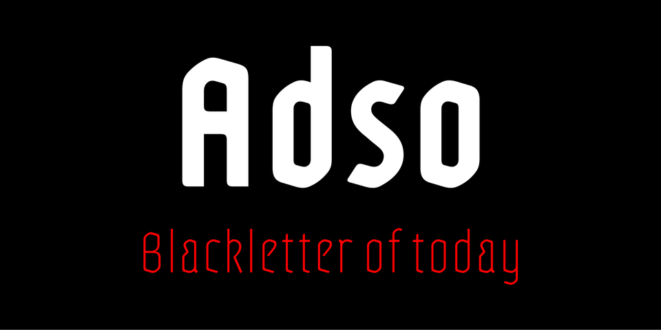 Adso font page
