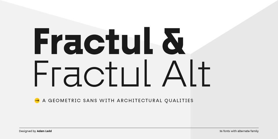 Fractul font page