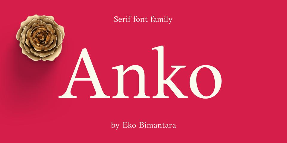 Anko font page