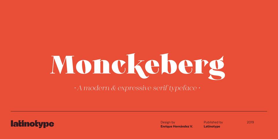Monckeberg font page