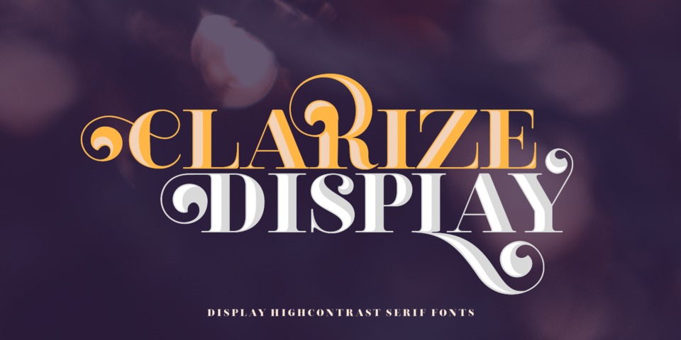 Clarize Display font page