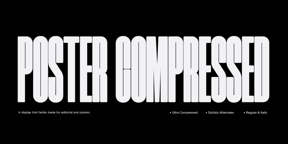 Poster Compressed font page