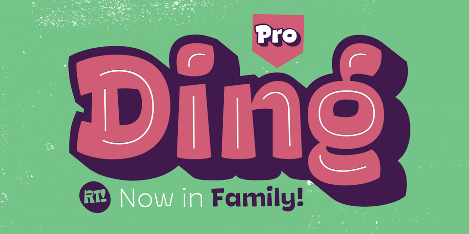 Ding Pro font page
