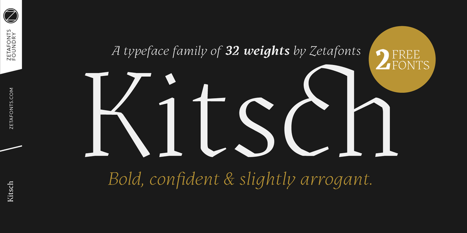 Kitsch font page