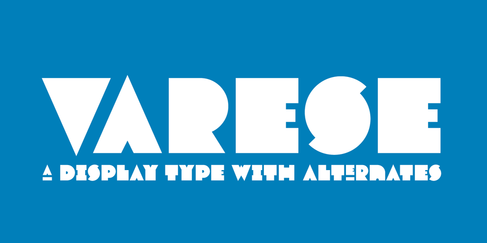 Varese font page