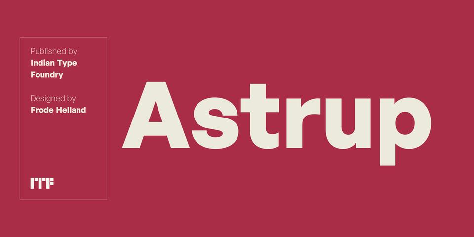 Astrup font page