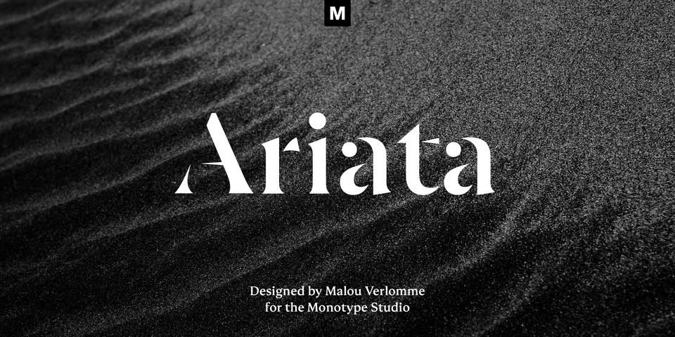Ariata font page