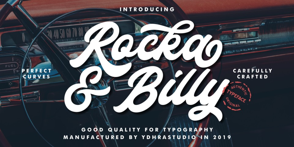 Rocka & Billy font page
