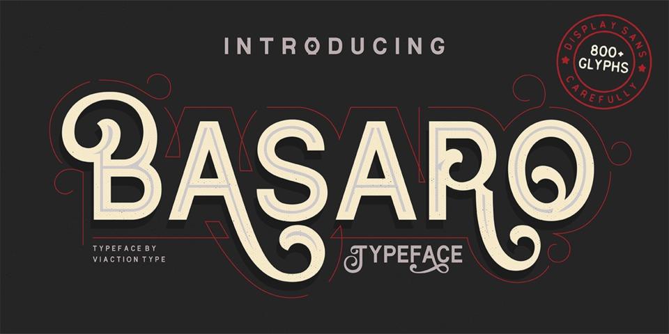Basaro font page