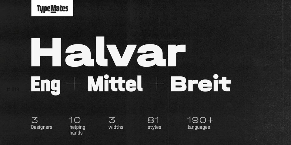 Halvar font page