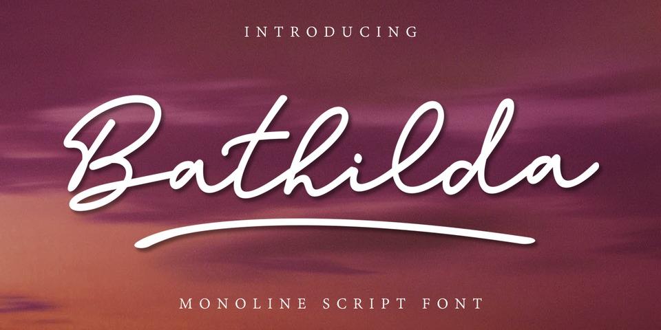 Bathilda font page