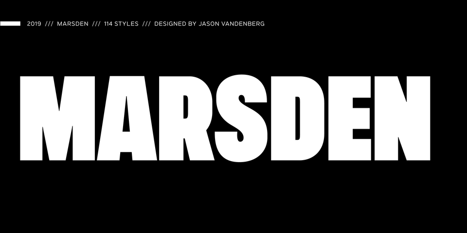 Marsden font page