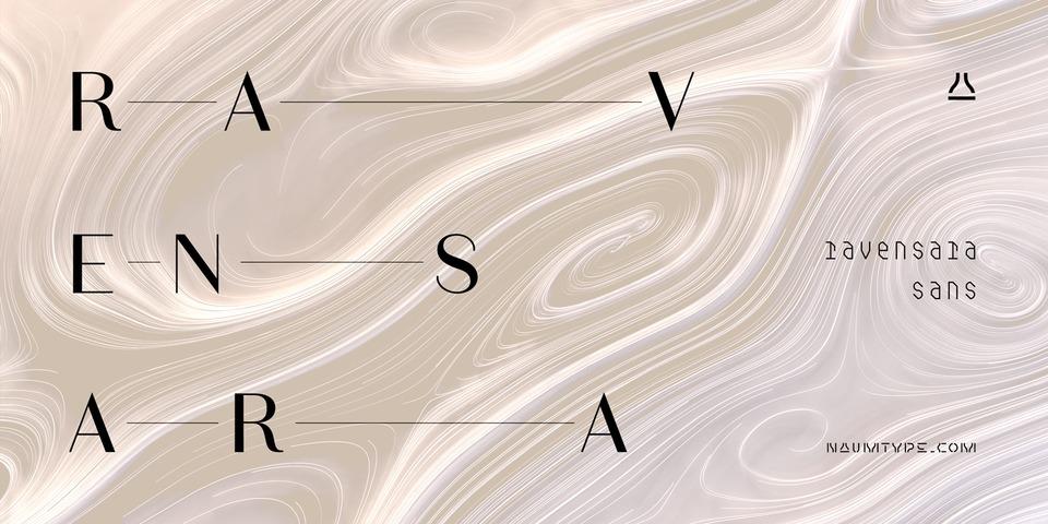 Ravensara Sans font page