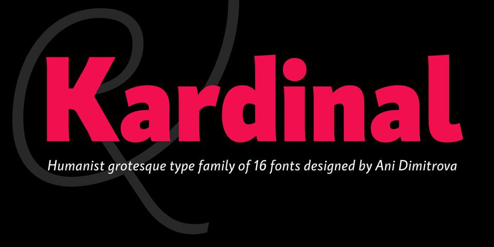 Kardinal font page