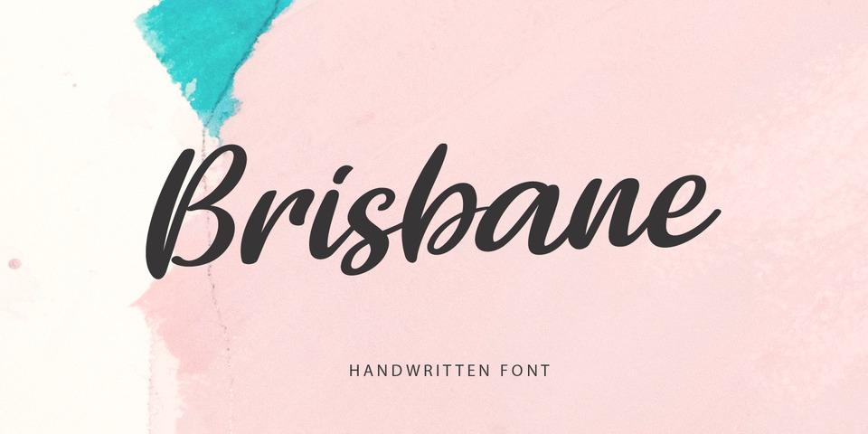 Brisbane font page