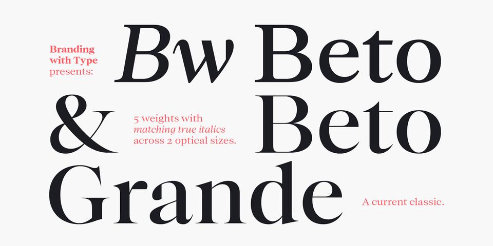 Bw Beto font page