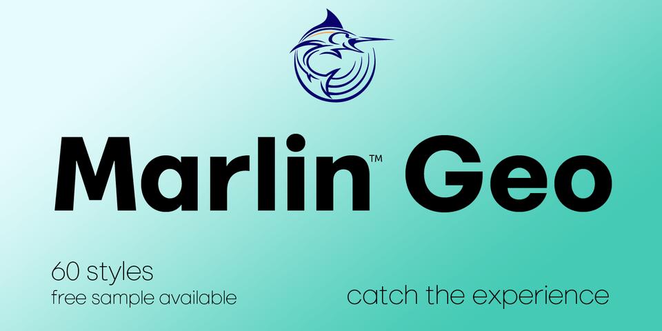 Marlin Geo font page