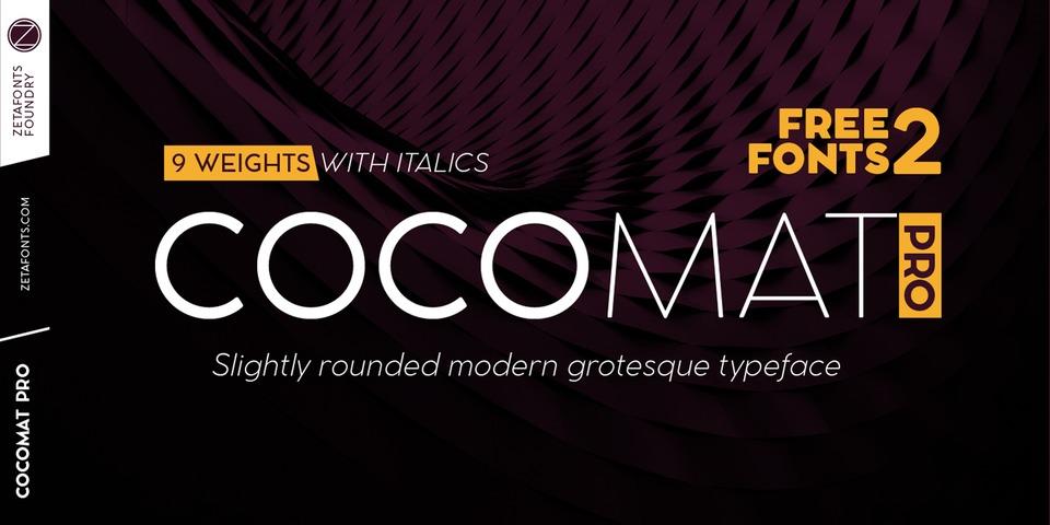 Cocomat Pro font page