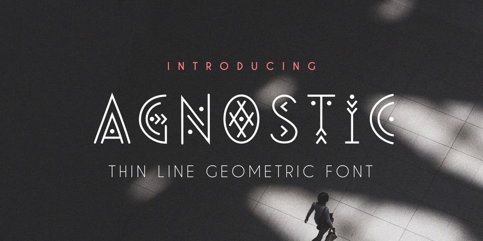 Agnostic Font font page