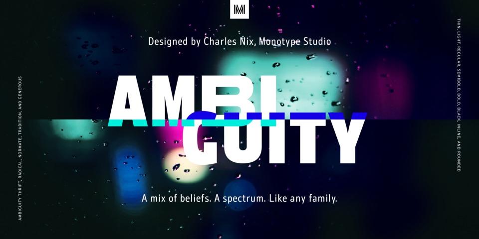 Ambiguity font page