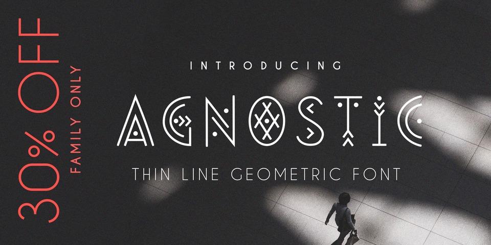 Special offer on Agnostic Font