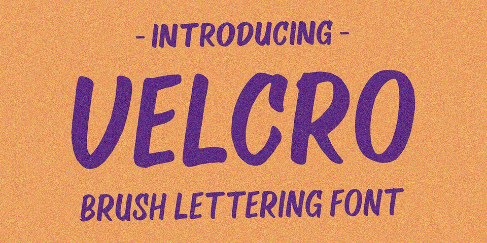 Velcro font page