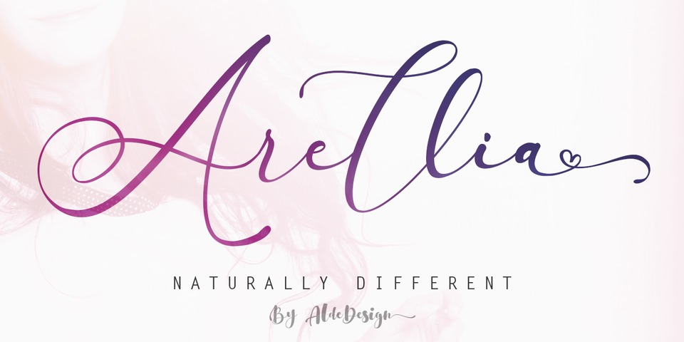 Arellia font page
