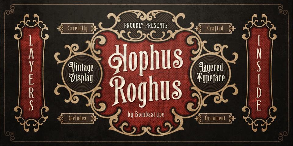 Hophus Roghus font page