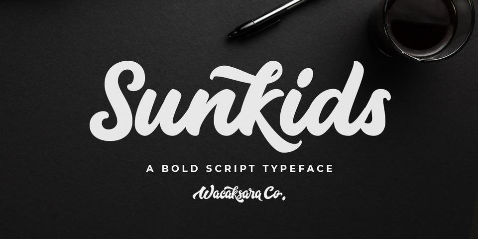 Sunkids font page