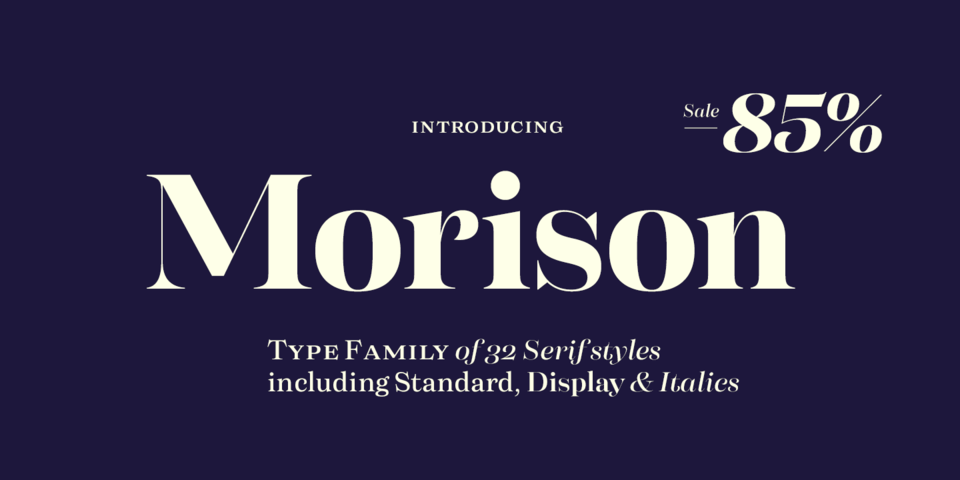 Special offer on Morison
